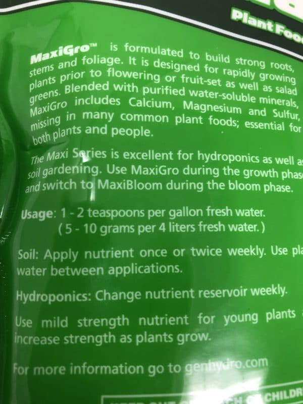 Nutrient Bag info1
