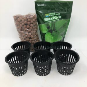 Hydroponic Nutrients clay pellets and net cups